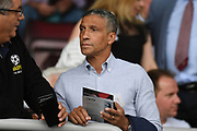 Former Brighton manager Chris Hughton in the crowd during the Pre-Season Friendly match between Northampton Town and Sheffield United at the PTS Academy Stadium, Northampton, England on 20 July 2019.
