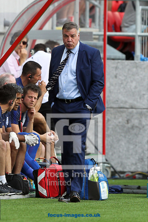 England manager, Sam Allardyce, has left his post following a meeting of the FA management after a newspaper investigation into alleged inappropriate advice about player transfers.<br /> Gareth Southgate will act as caretaker.<br /> Picture by Focus Images/Focus Images Ltd 07814 482222<br /> 27/09/2016<br /> <br /> File image for live news<br /> <br /> Original caption:<br /> <br /> England Manager Sam Allardyce during the 2018 FIFA World Cup Qualifying match at Stadion Antona Malatinskeho, Trnava<br /> Picture by Paul Chesterton/Focus Images Ltd +44 7904 640267<br /> 03/09/2016