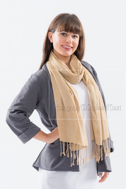 Beige Scarf.  Photo credit: Stephen A'Court.  COPYRIGHT ©Stephen A'Court