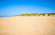 Wide sand beach and sand dunes at Holkham, north Norfolk coast, England