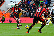 Dan Gosling (4) of AFC Bournemouth shoots at goal and misses the target during the Premier League match between Bournemouth and Tottenham Hotspur at the Vitality Stadium, Bournemouth, England on 11 March 2018. Picture by Graham Hunt.