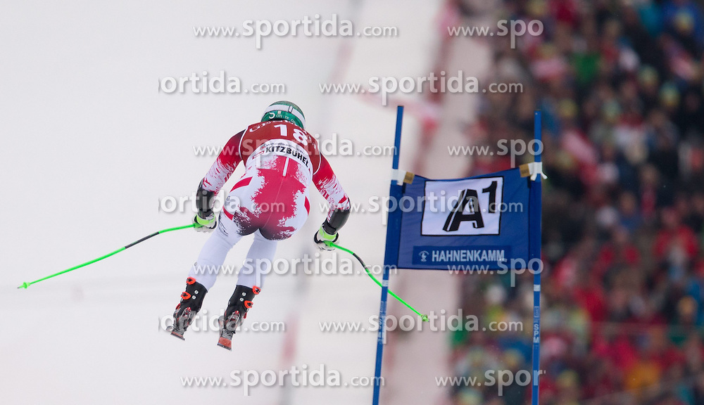 23.01.2015, Streif, Kitzbuehel, AUT, FIS Ski Weltcup, Supercombi Super G, Herren, im Bild Otmar Striedinger (AUT) // Otmar Striedinger of Austria in action during the men's Super Combined Super-G of Kitzbuehel FIS Ski Alpine World Cup at the Streif Course in Kitzbuehel, Austria on 2015/01/23. EXPA Pictures © 2015, PhotoCredit: EXPA/ Johann Groder
