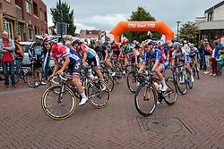 The Bunch with Megan Guarnier of Boels Dolmans Cycling Team starting at the Holland Ladies Tour, Zeddam, Gelderland, The Netherlands, 1 September 2015.<br /> Photo: Pim Nijland / PelotonPhotos.com