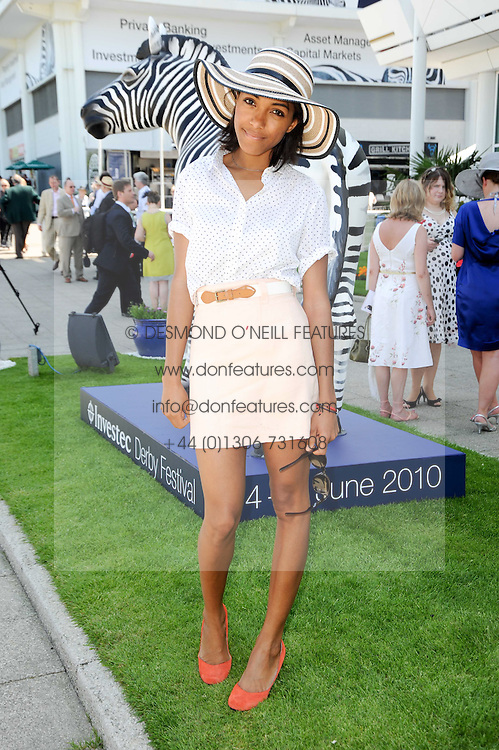 REMI NICOLE at the Investec Ladies Day at Epsom Racecourse, Surrey on 4th June 2010.