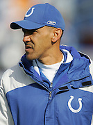 NASHVILLE, TN - DECEMBER 3:  Head coach Tony Dungy of the Indianapolis Colts watches pregame at the game against the Tennessee Titans at LP Field on December 3, 2006 in Nashville, Tennessee. The Titans defeated the Colts 20-17. ©Paul Anthony Spinelli *** Local Caption *** Tony Dungy