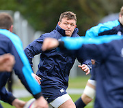 Bagshot, Great Britain. left, David WILSON, during the England Rugby Training, in preparation for the England vs Ireland, Six Nations Match. Thursday   20/02/2014  [Mandatory Credit Peter SPURRIER/Intersport Images.