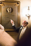 Steve Livengood of the U.S. Capitol Historical Society leads a tour of the U.S. Capitol on Cathy Long's birthday