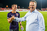 NOVI SAD - 18-08-2016, Vojvodina - AZ, Karadjordje Stadion, 0-3, AZ speler Stijn Wuytens, AZ trainer John van den Brom