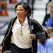 UNCASVILLE, CONNECTICUT- MAY 05:  Head coach Pokey Chatman on the sideline during the San Antonio Stars Vs Connecticut Sun preseason WNBA game at Mohegan Sun Arena on May 05, 2016 in Uncasville, Connecticut. (Photo by Tim Clayton/Corbis via Getty Images)