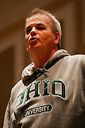 "Film writer/producer of ""Million Dollar Baby"" and ""Crash,"" Bobby Moresco presents a public lecture and takes questions from the audience Feb. 11, 2007 in the Grand Ballroom in the Baker Center, Ohio University, Athens, Ohio."