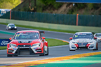 #77 Team Craft-Bamboo (HKG). LUKOIL SEAT Leon TCR. Sergey Afanasyev (RUS). TCR Race 1 as part of the WEC 6 Hours of Spa-Francorchamps 2016 at Circuit Spa-Francorchamps, Stavelot, Spa-Francorchamps, Belgium . May 06 2016. World Copyright Peter Taylor/PSP.
