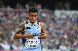August 4, 2017 - London, United Kingdom - Ielu TAMOA, Tuvalu, during 100 meter preliminary round  at London Stadium in London on August 4, 2017 at the 2017 IAAF World Championships athletics. (Credit Image: © Ulrik Pedersen/NurPhoto via ZUMA Press)