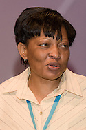 Thabitha Khumalo, 3rd Vice President, Zimbabwe Congress of Trade Unions, speaking at the TUC 2006...© Martin Jenkinson, tel 0114 258 6808 mobile 07831 189363 email martin@pressphotos.co.uk. Copyright Designs & Patents Act 1988, moral rights asserted credit required. No part of this photo to be stored, reproduced, manipulated or transmitted to third parties by any means without prior written permission
