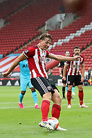 Football - 2019 / 2020 Premier League - Sheffield United vs Tottenham Hotspur<br /> Sander Berge of Sheffield United scores his sides first goal to make the score 1-0, at Bramall Lane.<br /> <br /> COLORSPORT/PAUL GREENWOOD