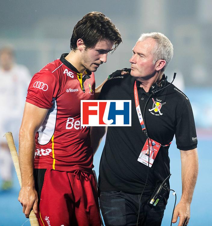 BHUBANESWAR - The Odisha Men's Hockey World League Final . Match ID 07,   Belgium v Spain. coach Shane McLeod (Bel) with Arthur van Doren (Bel)  .  WORLDSPORTPICS COPYRIGHT  KOEN SUYK