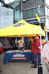 PCS stall at Pride 2017, Norwich UK, 29 July 2017