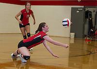 Varsity Volleyball Laconia versus Gilford.  Karen Bobotas/ for the Laconia Daily Sun