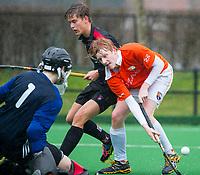20170319 BLOEMENDAAL - landelijke jeugdcompetitie Bloemendaal Jongens JA1-Schaerweijde jongens JA1 (2-8). David Luijckx (Bl'daal) . COPYRIGHT KOEN SUYK