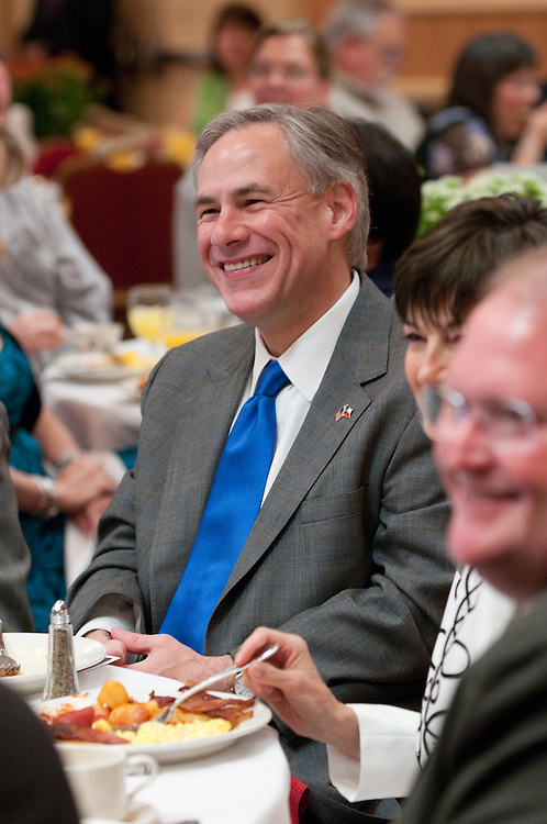Mark Matson for American-Statesman (5/4/10)  The Texas State Prayer Breakfast, part of the National Day of Prayer activites,  was held Tuesday morning at the Doubletree Hotel in Austin. Several elected officials, including Texas Attorney General Greg Abbott, attended the event.