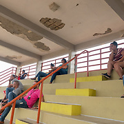 Guayama, Puerto Rico - July 6, 2018: Parents and family watch practice for the 12 and Under selection from Guayama which will compete in the Little League World Series.<br /> (Angel Valentin for ESPN)