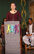 The World&rsquo;s Children&rsquo;s Prize Ceremony 2015 was held at Gripsholms Castle in Mariefred, Sweden. Emma Mogus, 16, from Canada and representative of the WCP Child Jury was the Master of ceremony. Photo: Sofia Marcetic/World's Children's Prize<br /> <br /> Since the year 2000, the World&rsquo;s Children&rsquo;s Prize program has educated and empowered over 38 million children. It&rsquo;s the world&rsquo;s largest annual educational initiative for equality, the rights of the child and democracy. The program is run annually in schools worldwide. Each year, three out&not;standing child rights heroes are selected by the Child Jury as candidates for the World&rsquo;s Children&rsquo;s Prize for the Rights of the Child.  The three candidates are then presented to the world&rsquo;s children through  the WCP magazine The Globe, video, web and social media. Tens of thousands of volunteers and organisations help to implement the WCP program every year, including at least 50,000 teachers and over a hundred organisations, social enterprises and departments of education. Over 67,000 schools in 113 countries have signed up for the WCP.<br />     The WCP program concludes with an annual Global Vote in which millions of children vote to elect their child rights hero of the Year. The majority of children who participate are vulnerable, such as former child soldiers and child slaves. Three global legends have got behind the WCP as patrons: Nelson Mandela, Aung San Suu Kyi, and Xanana Gusm&atilde;o. Other patrons include H.M. Queen Silvia of Sweden, Gra&ccedil;a Machel and Desmond Tutu.<br />    The WCP program was founded in the year 2000 and is run by Swedish non-profit the World&rsquo;s Children&rsquo;s Prize Foundation (WCPF). The WCPF receives funding from several bodies including the Swedish Postcode Lottery, Sida (the Swedish International Development Cooperation Agency), H.M. Queen Silvia&rsquo;s Care About the Children Foundation, the Surv&eacute; Family Foundation, Giving Wings, Futura Foundations and eWork. The WCPF received the highest possible rating in the