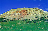 10,514 ft. Beartooth Butte of the Beartooth Mountains and the Shoshone National Forest,  Wyoming.