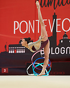 Alessia Russo from Armonia D'Abruzzo team during the Italian Rhythmic Gymnastics Championship in Bologna, 9 February 2019.