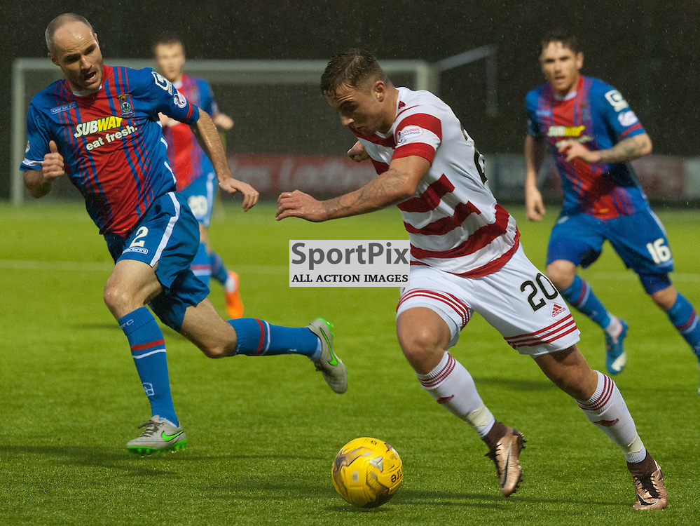 #20 Eamonn Brophy (Hamilton Academical) bursts through • Hamilton Academical v Inverness Caledonian Thistle • SPFL Premiership • 30 December 2015 • © Russel Hutcheson | SportPix.org.uk