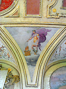 Decorative detail from the Castel Sant'Angelo . This image shows the painted internal ceilings of the Castle.