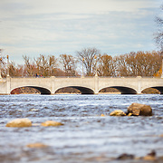 Gow's Bridge on the Speed river in Guelph, close to where the Speed and Eramosa River's join. Photo by Mido Melebari