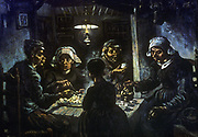 The Potato Eaters'. 1885: Vincent Van Gogh (1853-1890) Dutch Post-Impressionist.
