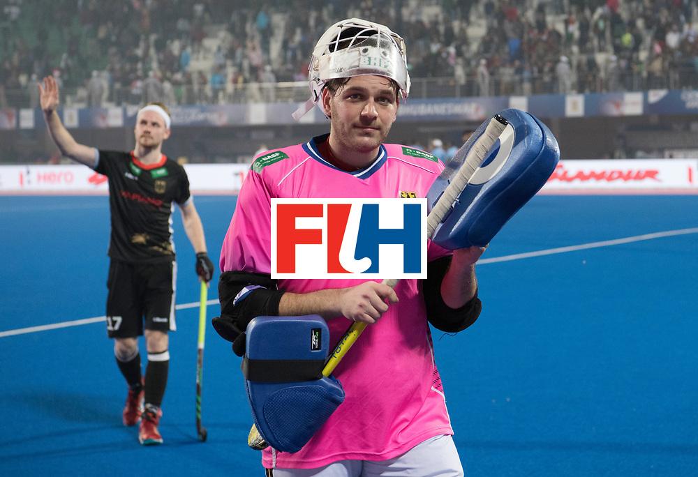 Odisha Men's Hockey World League Final Bhubaneswar 2017<br /> Match id:10<br /> India v Germany<br /> Foto: Christopher Ruehr (Ger) (L) and keeper Tobias Walter (Ger) <br /> WORLDSPORTPICS COPYRIGHT FRANK UIJLENBROEK