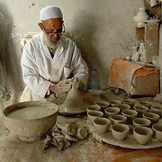 This man is working in the Art Naji factory.  He produces traditional ceramics and pottery that other workers will then paint.  Pottery and craftsmanship are staples in Moroccan culture.  So many things are made from hand.  The variety is endless.