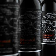 Row of bottles of Educated Guess Cabernet Sauvignon