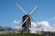 Belgium, Bruges, Traditional windmill