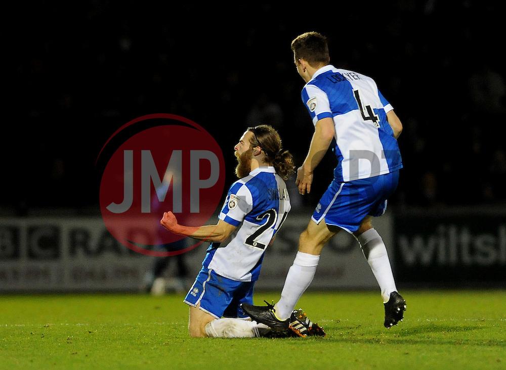 Bristol Rovers' Stuart Sinclair - Photo mandatory by-line: Neil Brookman/JMP - Mobile: 07966 386802 - 19/12/2014 - SPORT - football - Bristol - Memorial Stadium - Bristol Rovers v Gateshead  - Vanarama Conference