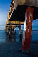 The Jacksonville Beach Pier at Night