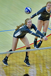 BLOOMINGTON, IL - October 12: Allison Ketcham during a college Women's volleyball match between the ISU Redbirds and the Valparaiso Crusaders on October 12 2018 at Illinois State University in Bloomington, IL. (Photo by Alan Look)