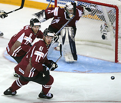 At front Raitis Ivanans (41) at ice-hockey match USA vs Latvia at IIHF WC 2008 in Halifax,  on May 02, 2008 in Metro Center, Halifax, Canada.  (Photo by Vid Ponikvar / Sportal Images)