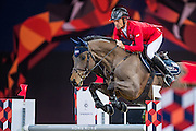 HONG KONG - FEBRUARY 20:  Pius Schwizer of Switzerland rides PSG Future during the Airbus Trophy as part of the 2016 Longines Masters of Hong Kong on February 20, 2016 in Hong Kong, Hong Kong.  (Photo by Aitor Alcalde Colomer/Getty Images)