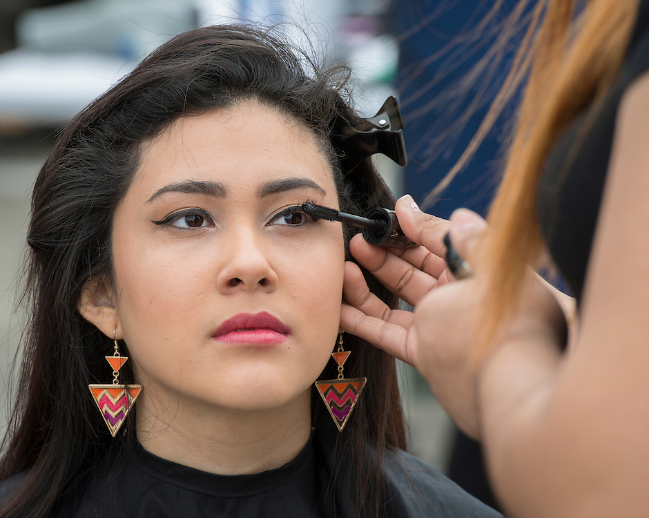 Milby High School students participate in a cosmetology competition at the When I Grow Up fair, March 8, 2014.