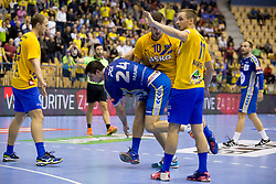 Marko Mamic of PGE Vive Kielce during handball match between RK Celje Pivovarna Lasko and PGE Vive Kielce in Group Phase A+B of VELUX EHF Champions League, on September 30, 2017 in Arena Zlatorog, Celje, Slovenia. Photo by Urban Urbanc / Sportida