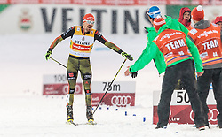 20.02.2016, Salpausselkae Stadion, Lahti, FIN, FIS Weltcup Nordische Kombination, Lahti, Team Sprint, Langlauf, im Bild Fabian Riessle (GER) // Fabian Riessle of Germany celebrates during Cross Country Team Sprint Race of FIS Nordic Combined World Cup, Lahti Ski Games at the Salpausselkae Stadium in Lahti, Finland on 2016/02/20. EXPA Pictures © 2016, PhotoCredit: EXPA/ JFK