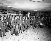 05/01/1972.01/05/1972.05 January 1972.Troops return from Cyprus to Dublin.  Some of the troops waiting for customs clearence at Dublin airport.