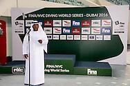 open ceremony<br /> FINA/NVC Diving World Series 2016 Dubai<br /> Hamdan Sport Complex -Dubai United Arab Emirates U.A.E. UAE<br /> March 17 -19 2016<br /> Day 2 March 17th<br /> Photo G.Scala/Insidefoto/Deepbluemedia