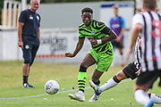 Forest Green Rovers Ebou Adams(14) passes the ball forward during the Pre-Season Friendly match between Bath City and Forest Green Rovers at Twerton Park, Bath, United Kingdom on 27 July 2019.