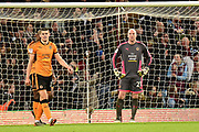 Wolverhampton Wanderers goalkeeper John Ruddy (21) looks dejected after conceding a third goal during the EFL Sky Bet Championship match between Aston Villa and Wolverhampton Wanderers at Villa Park, Birmingham, England on 10 March 2018. Picture by Dennis Goodwin.