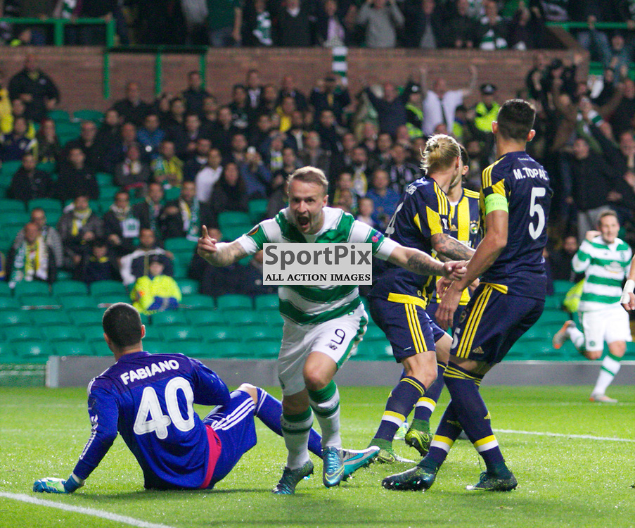 CelticÕs Leigh Griffiths  opens the scoring during the Glasgow Celtic FC v Fenerbahe S.K Europa League Group A 1st October 2015 ©Edward Linton | SportPix.org.uk