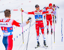 24.02.2019, Langlauf Arena, Seefeld, AUT, FIS Weltmeisterschaften Ski Nordisch, Seefeld 2019, Langlauf, Herren, Teambewerb, im Bild Johannes Hoesflot Klaebo (NOR) // Johannes Hoesflot Klaebo of Norway during the men's cross country team competition of FIS Nordic Ski World Championships 2019 at the Langlauf Arena in Seefeld, Austria on 2019/02/24. EXPA Pictures © 2019, PhotoCredit: EXPA/ Stefan Adelsberger