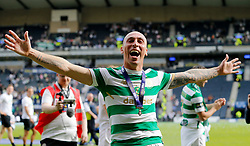 Celtic's Scott Brown celebrates after winning the William Hill Scottish Cup Final at Hampden Park, Glasgow.